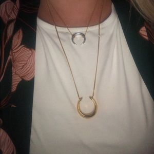 Stella & Dot Double Horn Necklace
